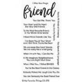 MFT Clear Stamps - Anything But Basic Friendship - CS-278